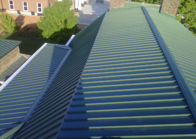 Arial View of Metal Roof in Sandy OR