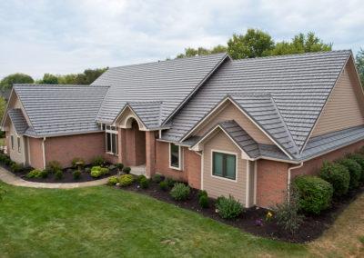 Gray Cedar Shake Metal Roof