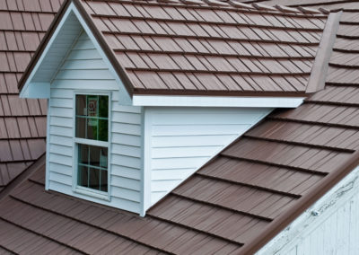 Rustic Brown Cedar Shake Metal Roof Profile