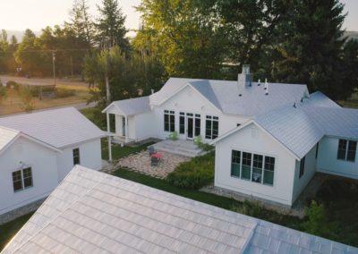 white cedar shake metal roof on white house in beaverton, OR