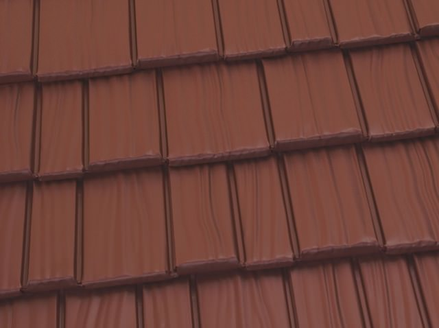 Cedar shake terra red color option