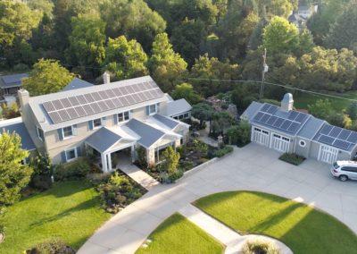 White Cedar Shake Metal Roof with Solar Panels in Gresham, OR