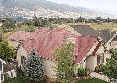 Terra Red Cedar Shake Metal Roof Profile