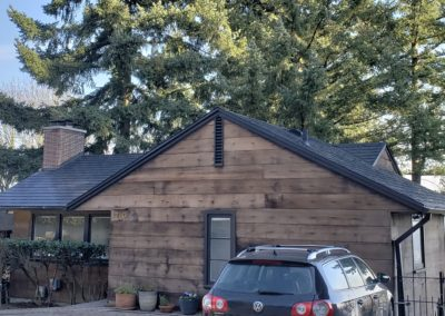 metal roofing contractor finish job side view
