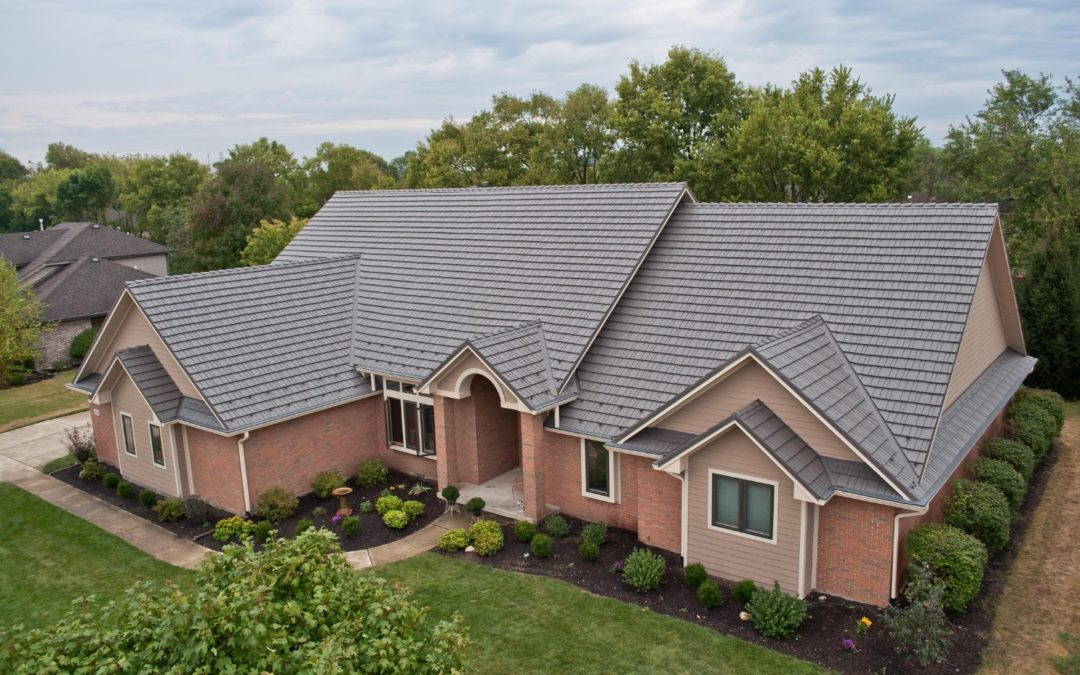 A nice home with metal roofing